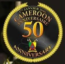 Logo officiel du Cinquantenaire des indépendances commémoré en 2010.  Source: www.journalducameroun.net