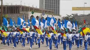 Défilé sur le boulevard du 20 mai à Yaoundé. © ndengue.mondoblog.org