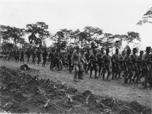 Parade des troupes près d'Ambam