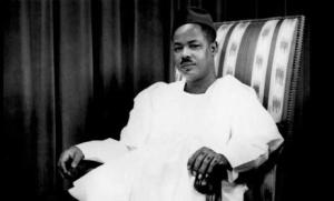 Le Président Ahmadou Ahidjo