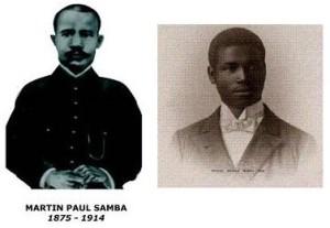 Martin-Paul Samba (à gauche) et R.D. Manga Bell (à droite)